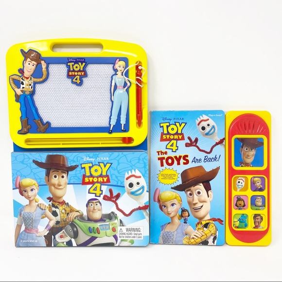 DISNEY PIXAR TOY STORY 4 Drawing Board & Books Set